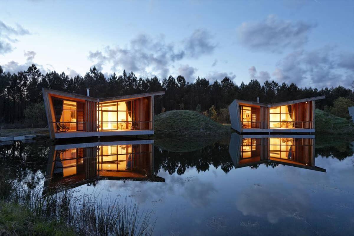 Cabane Les Echasses Eco-Lodge, Saubion