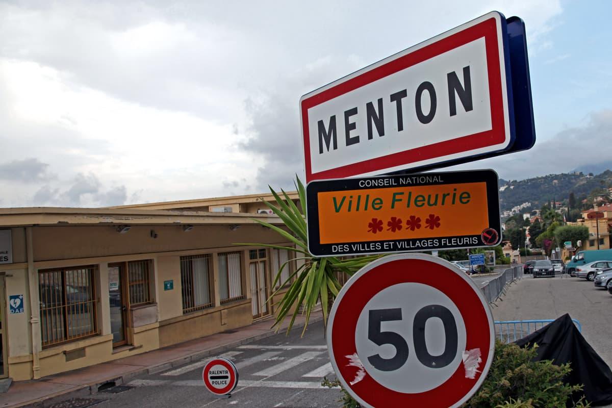 Douane de Menton, fin de la Nationale 7