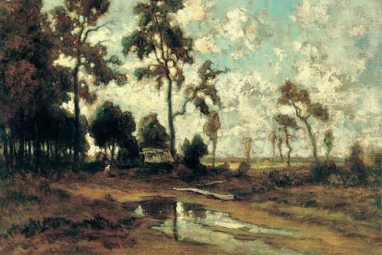 La cabane du charbon de bois dans la forêt de Fontainebleau (vers 1855), Théodore Rousseau