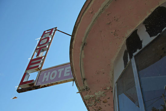 Montélimar, hôtel abandonné
