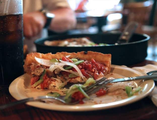 Pizza de Chicago, Deep dish