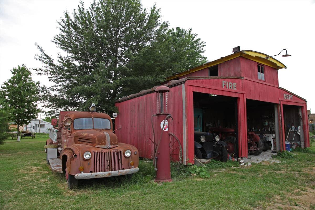 Red Oak 2, hangar des pompiers
