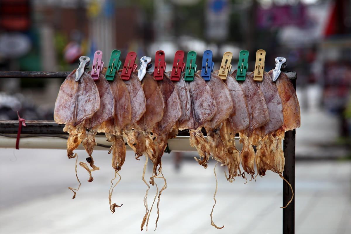 Street food : méduses croustillantes séchées